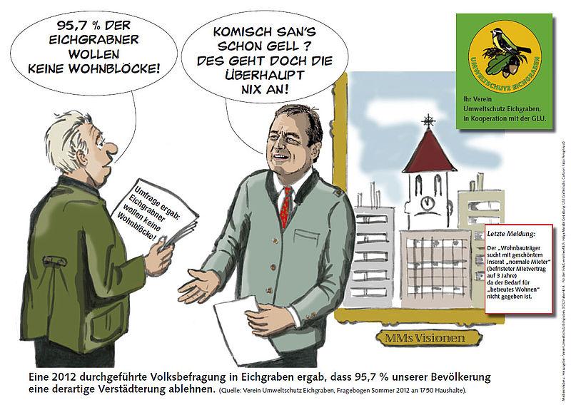 """Karikatur """"Betreutes""""-Wohnen"""